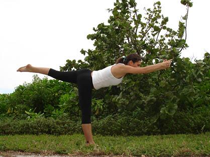 bikram balancing stick pose