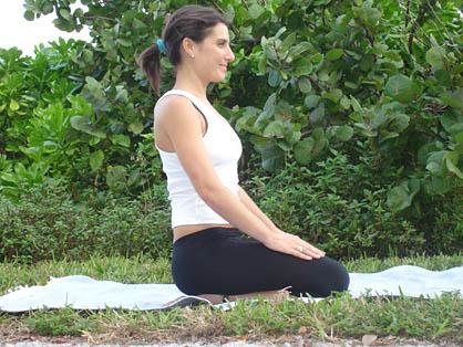 bikram yoga  blowing in firm pose