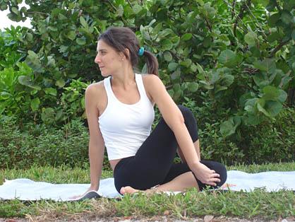 bikram spine twisting pose