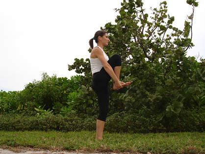 bikram standing head to knee pose